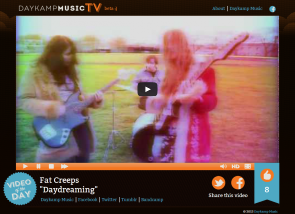 This is what Daykamp Music TV looks like. Click it. It's fun!