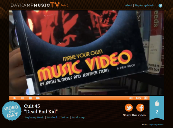 "Cult 45 - ""Dead End Kid"" on Daykamp Music TV"